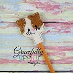 Cat Pencil Topper ITH Embroidery Design 4x4 hoop (and larger)